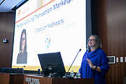 Deborah McBrearty, Global Head of Transaction Risk Insurance for Tokio Marine HCC. The Ever-Evolving Transaction Marketplace: A Global Perspective presentation at Advisen's Transaction Insurance Insights Conference at New York Law School.