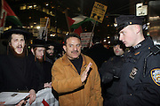 Atmosphere at Day 2 at The Palestine supporters march on the Israeli Consulate in New York City in attempt to end U.S. backed Israeli millitary assault on Hamas controlled Gaza Strip in Palestine held at The Israeli Consulate in NYC on December 30, 2008