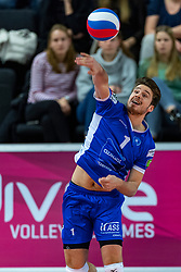 17-02-2019 NED: National Cupfinal Draisma Dynamo - Abiant Lycurgus, Zwolle<br /> Dynamo surprises national champion Lycurgus in cup final and beats them 3-1 / Sam Gortzak #1 of Lycurgus