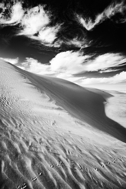 Close Up Texture of White Sands in White Sands National Monument in New Mexico.