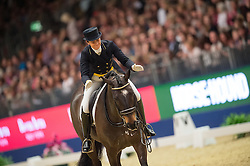 Vilhelmson Silfven Tinne, (SWE), Paridon Magi<br /> Grand Prix Freestyle <br /> Reem Acra FEI World Cup Dressage <br /> London International Horse Show<br /> © Hippo Foto - Jon Stroud