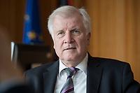 20 JUN 2018, BERLIN/GERMANY:<br /> Horst Seehofer, CSU, Bundesinnenminister, waehrend einem Interview, in seinem Buero, Bundesministerium des Inneren<br /> IMAGE: 20180620-02-001<br /> KEYWORDS: Buero