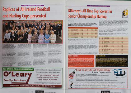 All Ireland Senior Hurling Championship Final,.12.09.2004, 09.12.2004, 12th September 2004,.Senior Cork 0-7, Kilkenny 0-9,.Minor Kilkenny 1-18 ,  Galway 3-12 (draw),.12092004AISHCF,.O'Leary Family Butchers,