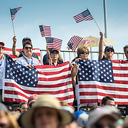 US fans during the FEI World Individual Jumping Championships at the 2018 FEI World Equestrian Games™ Tryon 2018 where Land Rover is the official vehicle sponsor, on September 23, 2018 in Mill Spring, North Carolina.