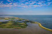 Nederland, Flevoland, Gemeente Lelystad, 27-08-2013; Oostvaardersplassen gezien naar Grote Plas, Hoekplas in de voorgrond, Krentenplas in het middenvlak. Rechts Markermeer en Oostvaardersdijk.<br /> Bird sanctuary and nature reserve Oostvaardersplassen north-east of the city of Almere, Markermeer (lake)  right.<br /> luchtfoto (toeslag op standaard tarieven);<br /> aerial photo (additional fee required);<br /> copyright foto/photo Siebe Swart.