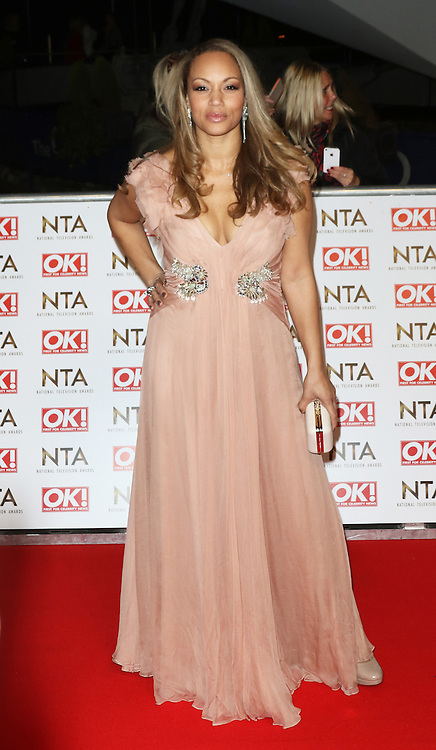 © Licensed to London News Pictures. 21/01/2015, UK. Angela Griffin, National Television Awards, The O2, London UK, 21 January 2015. Photo credit : Richard Goldschmidt/Piqtured/LNP