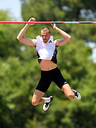 Zach Ziemek (USA) clears 17-2 3/4 (5.25m) in the pole vault  during the decathlon at the DecaStar meeting, Saturday, June 23, 2019, in Talence, France.  Ziemek placed second with 8,344 points. (Jiro Mochizuki/Image of Sport)