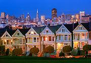 "Victorian homes, ""Painted Ladies"", on Steiner Avenue"
