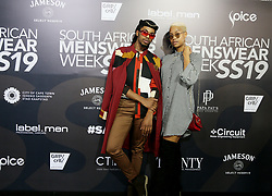 Cape Town-180707- Muzikayise Mkiweqane and Ruth Jantjies the SA mens wear week  held at the Lookout, V%A Waterfront. Picture: Siphephile Sibanyoni/ African News Agency (ANA).