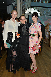 Left to right, JASMINE GUINNESS, BAY GARNETT and JADE PARFITT at The Women for Women International & De Beers Summer Evening held at The Royal Opera House, Covent Garden, London on 23rd June 2014.