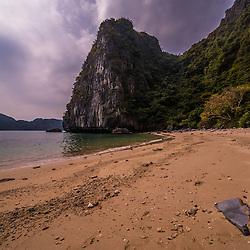 Cat Ba islands (Hai Phong Province). Limestone cliffs