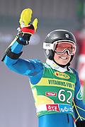 SOELDEN, AUSTRIA. OCTOBER 17 2020:  1st Women's Giant Slalom as part of the Alpine Ski World Cup in Solden on October 17, 2020; Run 2, Paula Moltzan (USA) ( Pierre Teyssot/ESPA Images-Image of Sport)