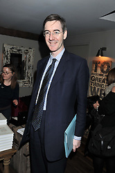JACOB REES-MOGG at a party to celebrate the publication of A History of Food in 100 Recipes by William Sitwell held at Archer street, 3-4 Archer Street, London W1 on 11th April 2012.