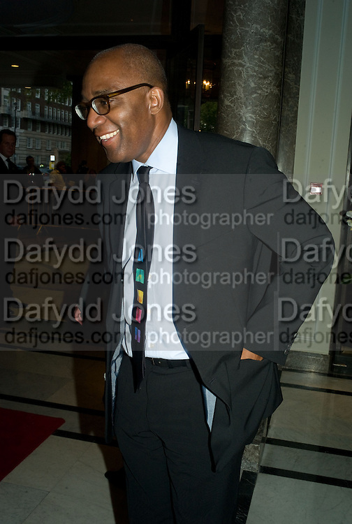 TREVOR PHILLIPS, The Spectator 180th Anniversary party, at the Churchill Hotel, London, 7 May 2008.  *** Local Caption *** -DO NOT ARCHIVE-© Copyright Photograph by Dafydd Jones. 248 Clapham Rd. London SW9 0PZ. Tel 0207 820 0771. www.dafjones.com.