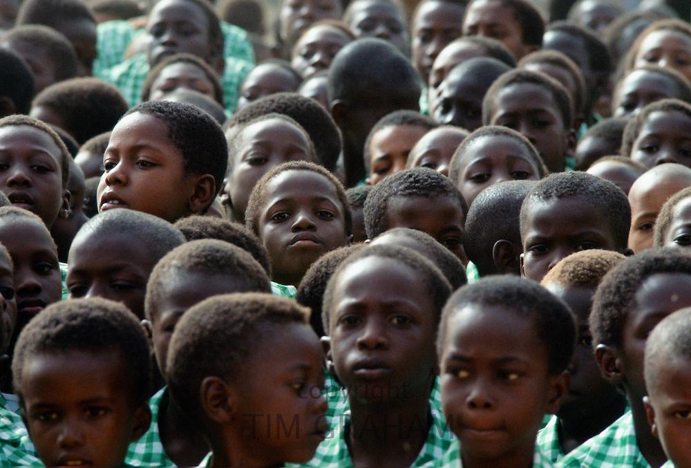 Schoolchildren in Gambia, West Africa