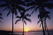 Sunset, Waimea Bay, Oahu, Hawaii<br />