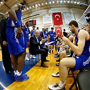 Anadolu Efes's headcoach Dusan Ivkovic in action during their Turkish Basketball Super League match Istanbul BBSK between Anadolu Efes at Cebeci Arena in Istanbul Turkey on Sunday 29 November 2015. Photo by Aykut AKICI/TURKPIX