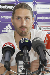 September 19, 2017 - Brussels, BELGIUM - Anderlecht's assistant coach Nicolas Frutos pictured during a press conference of assistant coach Nicolas Frutos, ahead of tomorrow game of 1/16 finals of Belgian cup, Tuesday 19 September 2017 in Brussels. Yesterday Sporting Anderlecht sacked Swiss head coach Weiler, after collecting 9 points out of 21 in the first seven games. BELGA PHOTO THIERRY ROGE (Credit Image: © Thierry Roge/Belga via ZUMA Press)