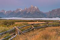 Teton Range at Cunningham Ranch, Grand Teton National Park Wyoming