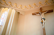 A crucifix in the pulpit on Saturday, Jan. 16, 2021, at Zion Lutheran Church, Fort Wayne, Indiana. LCMS Communications/Erik M. Lunsford