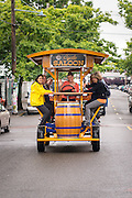 Pedal yourself around to restaurants and bars by taking a ride on the Cycle Saloon in the Ballard neighborhood of Seattle.