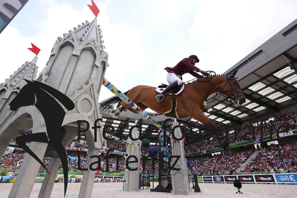 Al Thani, Shaik Ali bin Khali<br /> <br /> <br /> <br /> <br /> <br /> , Vienna Olympic<br /> Normandie - WEG 2014<br /> Springen - Finale III<br /> © www.sportfotos-lafrentz.de/ Stefan Lafrentz