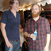 PITTSBURGH - AUGUST 08:  Patrick Carney and Dan Auerbach of The Black Keys at American Eagle Outfitters New American Music Union Festival - Day 1 at Pittsburgh's Southside Works on August 8, 2008 in Pittsburgh.  (Photo by Lisa Lake/WireImage)