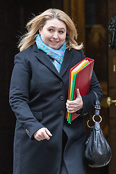 © Licensed to London News Pictures. 10/01/2017. London, UK.  Secretary of State for Culture, Media and Sport Karen Bradley leaves Downing Street after the weekly Cabinet meeting. Photo credit: Rob Pinney/LNP