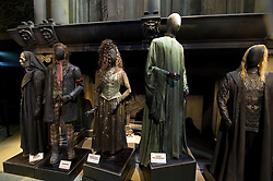 © Licensed to London News Pictures 27/02/2011 London, UK. .Death Eaters costumes inside The Warner Brothers Studio Tour, Leavesden, Herts where all 8 Harry Potter movies were made and opens to the public this week..Photo credit : Simon Jacobs/LNP