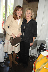Left to right, CHRISTABEL HOLLAND and JENNIFER SAUNDERS at a lunch in aid of African Solutions To African Problems held at Il Bottaccio, 9 Grosvenor Place, London on 20th May 2008.<br />