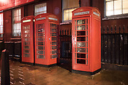 Telephone boxes in Soho, London, 26 August 2018