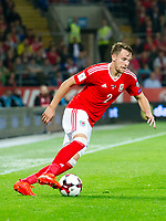 Football - 2018 World Cup - Qualifying 2016 / 2017 - Group D: Wales vs Moldova<br /> <br /> Chris Gunter attacks      …  at the Cardiff City Stadium<br /> <br /> pic colorsport/winston bynorth