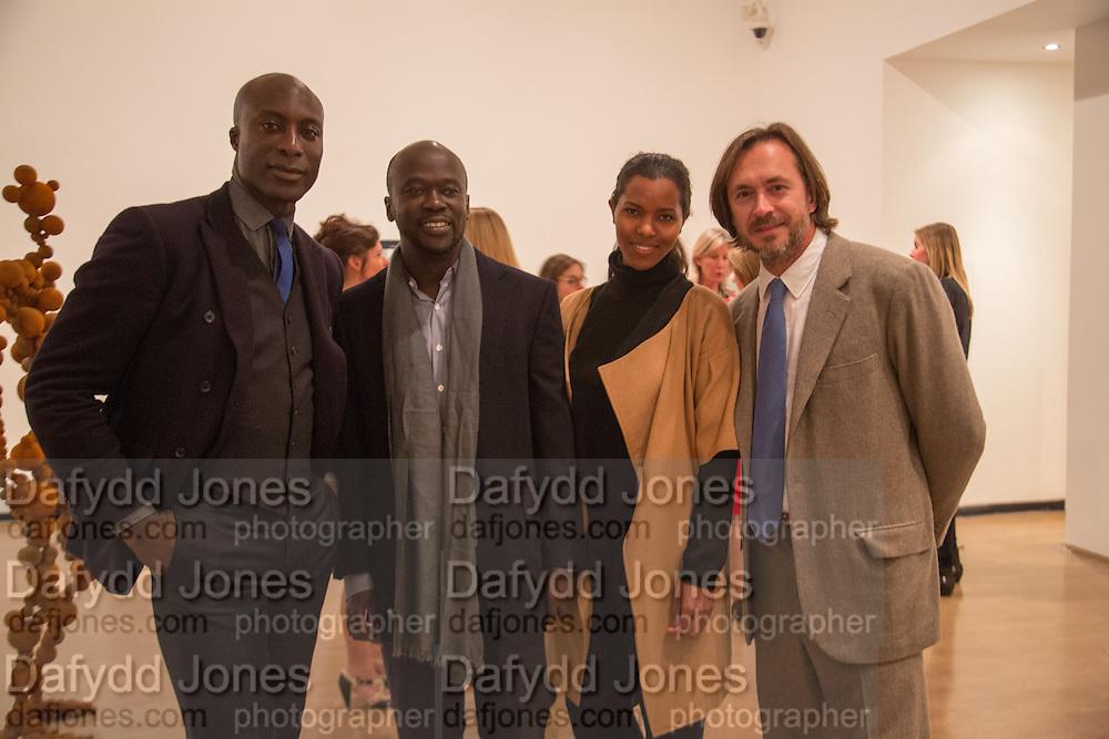 OSWALD BOATENG; DAVID ADJAYE; ASHLEY SHAW-SCOTT; MARC NEWSON, Gala Opening of RA Now. Royal Academy of Arts,  8 October 2012.