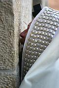 Israel, Jerusalem Jewish man deep at prayer At the wailing wall, Jerusalem