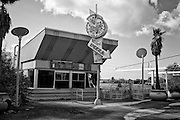 Papa Russo's Pizza in the Pontchartrain Beach area at Six Flags in East New Orleans - five years later after Hurricane Katrina.