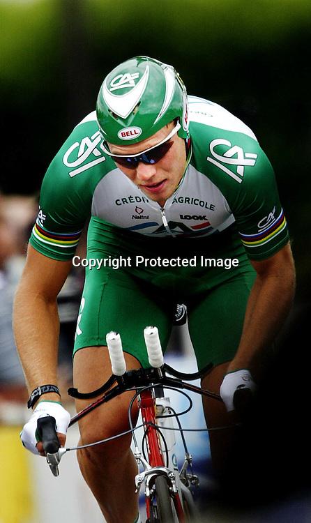 Tour de France...Hushovd på prologen.  ....ingen videre info på bildene.....Foto: Daniel Sannum Lauten/Dagbladet *** Local Caption *** Hushovd,Thor