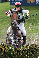 Superstition II ridden by Lucy Jackson in the Equi-Trek CCI-L4* Cross Country during the Bramham International Horse Trials 2019 at Bramham Park, Bramham, United Kingdom on 8 June 2019.