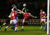Photo: Steve Bond/Sportsbeat Images.<br />Leicester City v Charlton Athletic. Coca Cola Championship. 29/12/2007. Patrick McCarthy (C) scores the late equaliser with an overhead kick