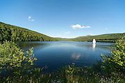 Stausee Trinkwasserspeicher Frauenau, Bayerischer Wald, Bayern, Deutschland | reservoir Frauenau, Bavarian Forest, Bavaria, Germany
