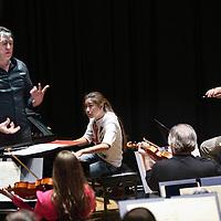 Nederland, Amsterdam , 4 april 2012..young musician of the year repetitie-uitzending naar Wenen in Beurs van Berlage..Op de foto pianiste Gile Bae tijdens de repetitie..Foto:Jean-Pierre Jans