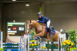De Roo Chloe, BEL, Happyness<br /> Nationaal Indoor Kampioenschap Pony's LRV <br /> Oud Heverlee 2019<br /> © Hippo Foto - Dirk Caremans<br /> 09/03/2019