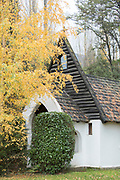 View of Capilla Nuestra Seora del Rosario in autumn in Bariloche, Argentina