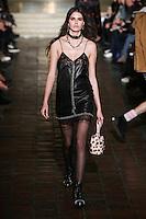 Vanessa Moody walks the runway wearing Alexander Wang Fall 2016 during New York Fashion Week on February 13, 2016