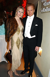 PRINCE VALERIO MASSIMO and MISS ANTONIA HEDLEY-DENT at Andy & Patti Wong's Chinese New Year party to celebrate the year of the Rooster held at the Great Eastern Hotel, Liverpool Street, London on 29th January 2005.  Guests were invited to dress in 1920's Shanghai fashion.<br />