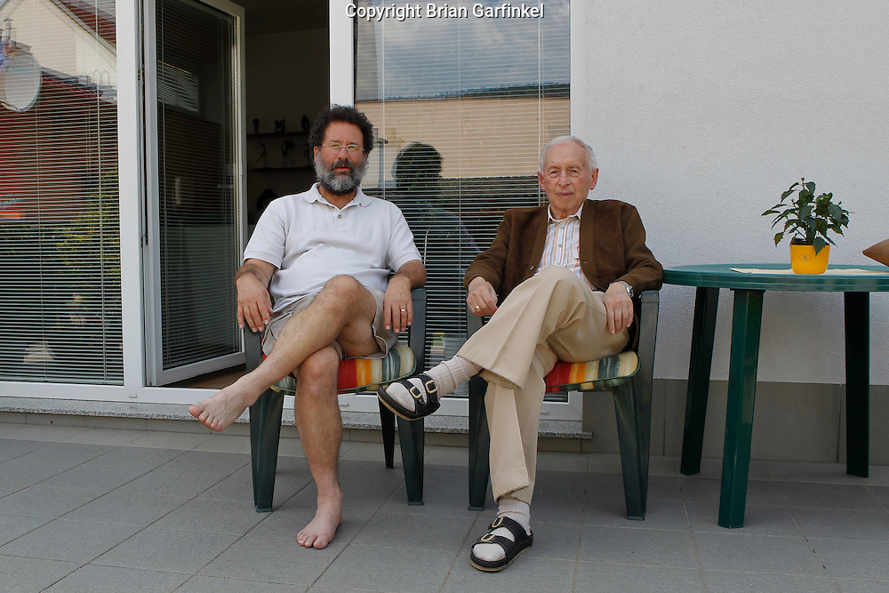 Dad and Palo at Peter's house in Zilina, Slovakia on Thursday, July 7th 2011.  (Photo by Brian Garfinkel)