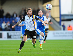 Bristol Rovers' Matty Taylor gets away from Chester's Gareth Roberts - Photo mandatory by-line: Neil Brookman/JMP - Mobile: 07966 386802 - 22/11/2014 - Sport - Football - Chester - Deva Stadium - Chester v Bristol Rovers - Vanarama Football Conference