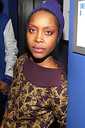 New York, NY- December 5: Recording Artist Erykah Badu backstage at the Science of Addiction Tour 2011 AD featuring Erykah Badu and the Cannibinoids with Theophilus London held at the Best Buy Theater on December 5, 2011 in New York City. Photo credit: Terrence Jennings