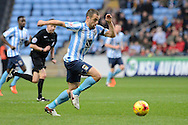 Coventry City midfielder Joe Cole on the run during the Sky Bet League 1 match between Coventry City and Oldham Athletic at the Ricoh Arena, Coventry, England on 19 December 2015. Photo by Alan Franklin.