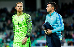 Jan Oblak of Slovenia after the football match between National Teams of Slovenia and Scotland of Fifa 2018 World Cup European qualifiers, on October 8, 2017 in SRC Stozice, Ljubljana, Slovenia. Photo by Vid Ponikvar / Sportida