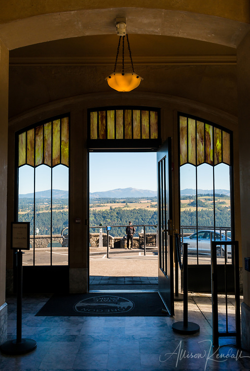 Vista House overlooking the Columbia River Gorge in Oregon